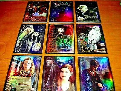 Harry Potter Order Of The Phoenix Update Complete Prismatic Foil Chase Set R1-9