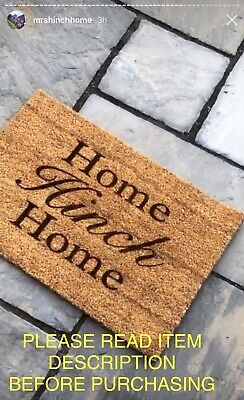 Personalised Door Mat/ Rug Entrance Mat Natural Coir Any Design Or Text