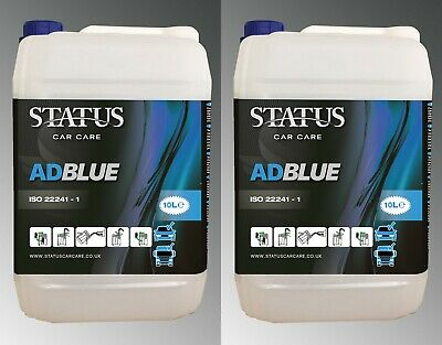 Status ISO22241- 1 AdBlue 2 x 10 litre DEF Ad Blue 20 Litre & Free Pouring Spout