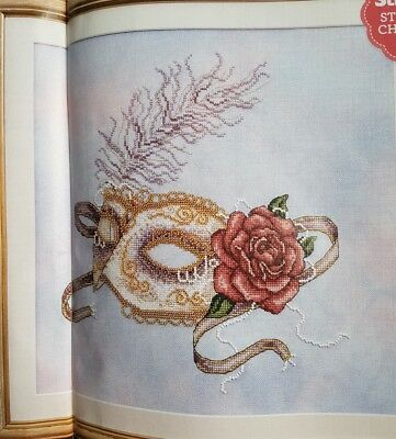 Venetian Baroque Style Mask Design Cross Stitch Chart By Shannon Wasilieff (N81)