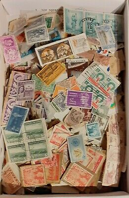 Box of mixed world stamps. 660g On/Off paper