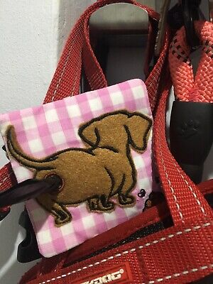 Dog Poopy Bag Holder Handmade Dachshund Doxie Sausage Funny Gift Accessory Xmas