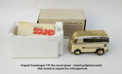 Vtg ORIGINAL TAMCO SOUNDWAGEN VOLKSWAGEN VW BUS RECORD PLAYER MINT SPECIAL GOLD