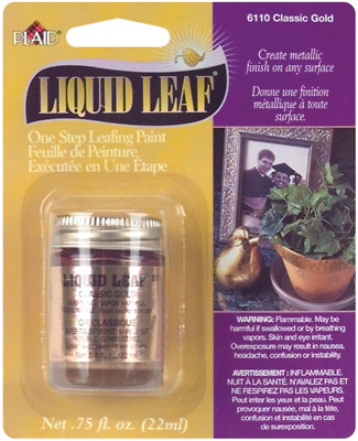 Liquid Leaf Metallic Classic Gold Restoring Paint Painting Art Supplies Plaster