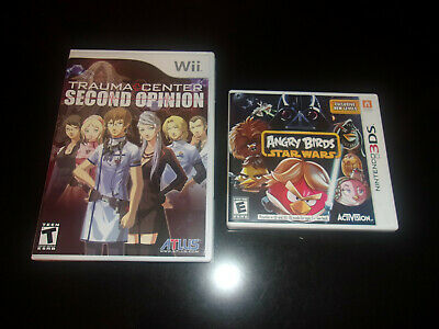 Angry Birds Star Wars Nintendo 3DS & Wii Trauma Center Second Opinion Game