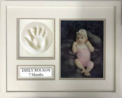 DIY Baby's First Hand Print Keepsake Frame Kit -Professional made easy