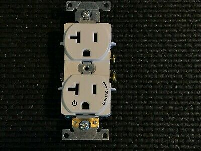 1 New White Controlled LEVITON 5362-S1W 20A-125V DUPLEX RECEPTACLE 3 Wire