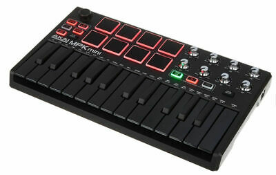 Akai Professional MPK Mini MK2 MKII 25-Key MIDI Controller Black on Black NEW