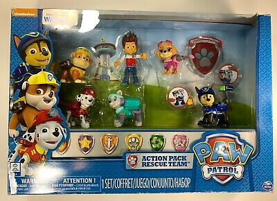Everest, Damaged Paw Patrol Action Pack Rescue Team #2 Figure 6-Pack