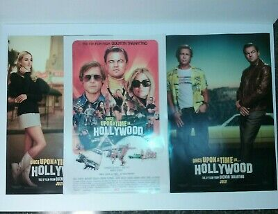 "Once Upon a Time in Hollywood 11"" x 17"" Movie Mini Poster Chirashi Lot of 3"