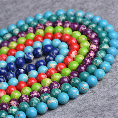 1pcs 4-12mm Emperor Stone Round Bead Loose Beads 15 inches Top Strand Gemstone