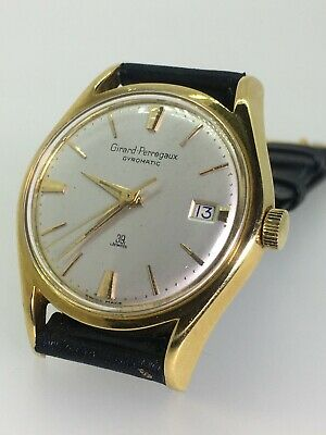 An Exceptional Solid 18ct Gold Girard-Perregaux Gyromatic 39 Jewels Mens' Watch