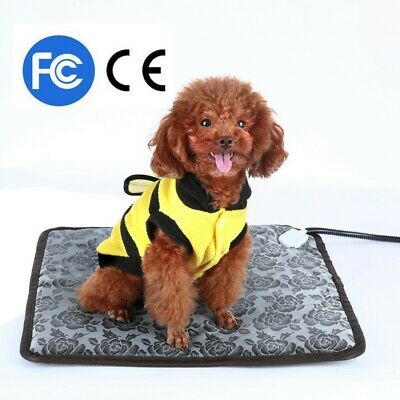 HOT Waterproof Pet Dog Cat Heated Warmer Bed Pad Puppy Bed Electric Heater Mat