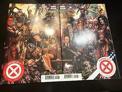 House of X #1 & Powers of X #1 Mark Brooks Connecting Covers Set! NM! X-Men!!