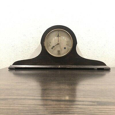 Large Antique Mantel Clock New Haven Tambour No. 50 Camel In Running Condition