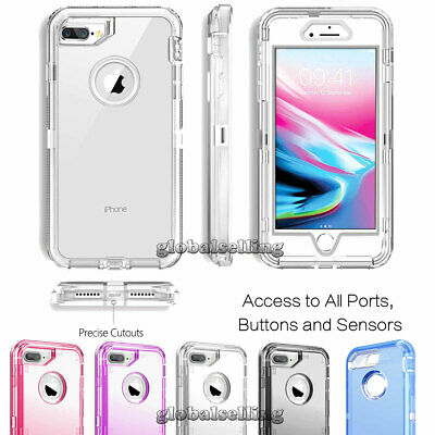 Heavy Duty Shockproof Clear Phone Case For iPhone XS Max XR X 6 6s 7 8 Plus