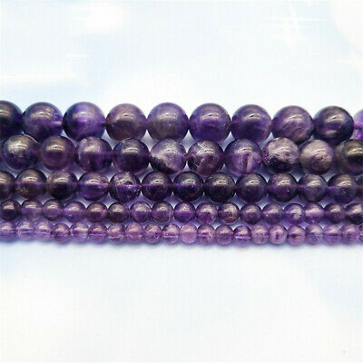 6-12mm Natural Round Amethyst Loose Beads Diy Accessories Gemstone Styles