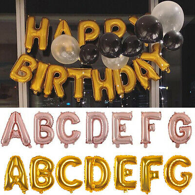 """40"""" Letter Foil Helium Balloons for Happy Birthday Wedding Party Supplies 16"""""""