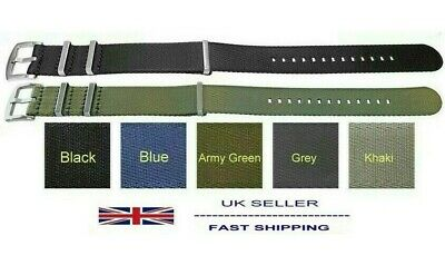 Fabric Military Army Watch Strap SEAT BELT STYLE 18mm 20mm 22mm