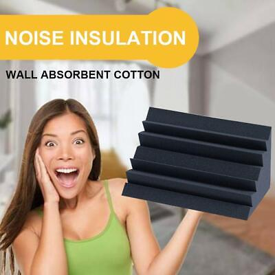 Soundproof Acoustic Sound Insulation Stop Absorption Studio Foam Sponge Black