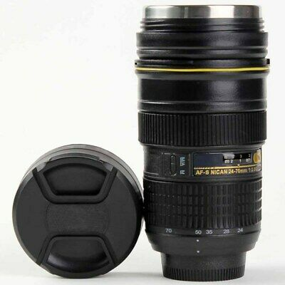 24-70 mm Camera Lens Mug Stainless Steel Coffee Cup Thermos Travel Mug hot