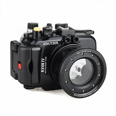 Meikon 40m/130ft Underwater Camera Housing Case for Sony RX100 IV RX100 M4