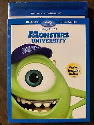 Monsters University Blu-Ray & DVD w Slipcover Canada Bilingual NO DC LOOK
