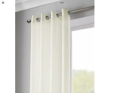 Pair Of Lucy Eyelet Voille Curtain Panels Cream