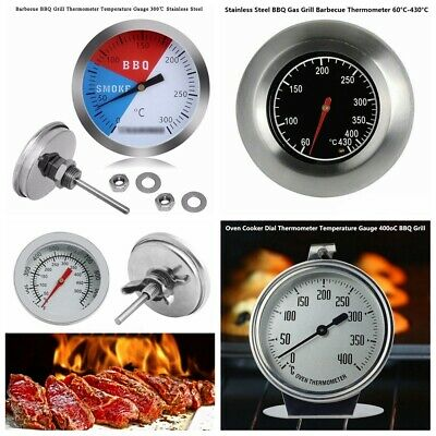 Barbecue Thermometer Gauge BBQ Temperature Travel Home Party Grill Pit MA
