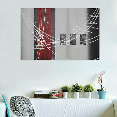 Modern Abstract Wall Decor Art Hand Draw Oil Painting Stretched Canvas Framed