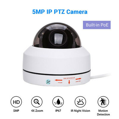 5MP 1080P POE IP PTZ Camera Network Smart Security Onvif Infrared Waterproof P2P