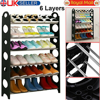 6 Tier Shoe Storage Shelf Home Footwear Rack Stand Organizer 18 Pairs Shoes