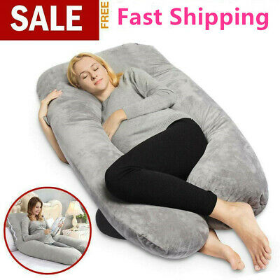Full Body Pregnancy Pillow Maternity Pregnant Women U Shape On Side Support AU