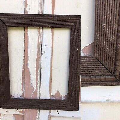 Picture Painting Frame Antique Reeded Ornate Wooden Wood  VERY OLD