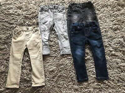 Next Baby Boys Light Denim Blue Skinny Legs Jeans 12-18 Months Adjustable Waist