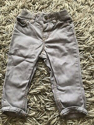 H & M Baby boys soft grey fade denim jeans 6-9 months Adjustable Waist Like NEXT