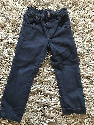 Next Baby Boys Navy Blue Denim Skinny Legs Jeans 12-18 Adjustable Waist