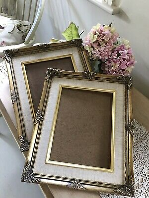 PAIR Picture Painting Frame Antique Gilt Gold STUNNING Ornate Vintage 1980s