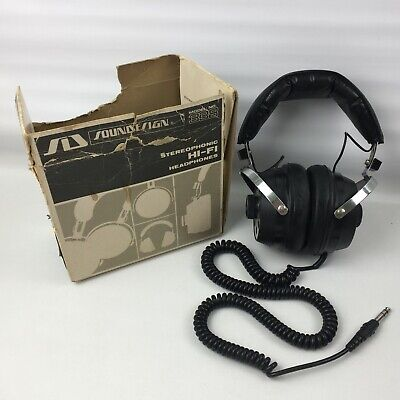 Vintage Sound Design Model 338 Stereo Headphones, Boxed, Tested, Made in Japan