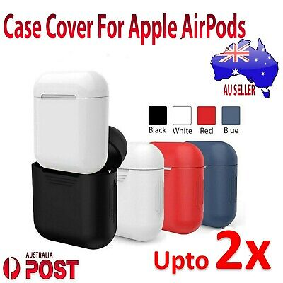 For Apple AirPods Earphones Soft Silicone Protective Shockproof Skin Case Cover