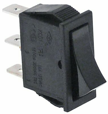 Rocker Switch Mounting Measurements 30X11Mm Black 1Co 250V 16A Connection 6.3Mm