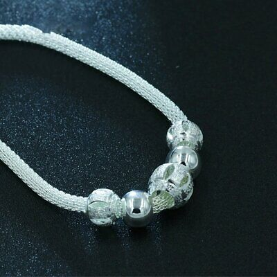 Fashionable Simple Silver-plated Bracelet Design Silver Jewelry Ball StringFR