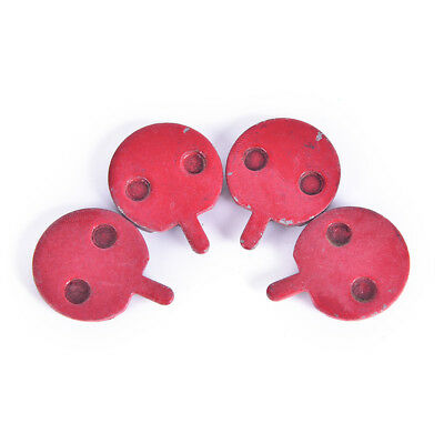 2 Pair Round Mountain Road Bike Bicycle Disc Brake Pad Red for shimano E&FVe
