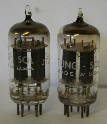 5687 Tung-Sol USA 2 pieces USED tube valve