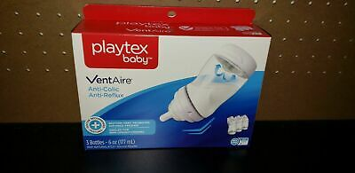 Playtex VentAire Advanced Natural Feeding System Bottles, Slow Flow, Wide/6oz,..