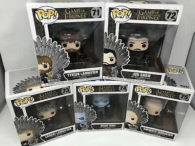 Game Of Thrones Funko Pop Lot Of 5 With Iron Throne #71-75