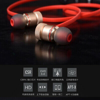 Magnet Wireless Bluetooth Sports Earphone Headset Headphone For iPhone Samsung T