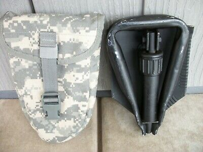 USGI Entrenching Tool with MOLLE carrier UCP E Tool Ames folding shovel surplus