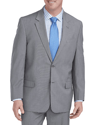 New Geoffrey Beene Men's Stretch Mini Grid Suit Jacket Grey Size 54L  $198