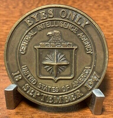 "AUTHENTIC VERY RARE Circa 1980's CIA Nathan Hale ""EYES ONLY"" Challenge Coin"